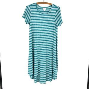 🌈3/22 LuLaRoe   Striped Carly Dress Sz S